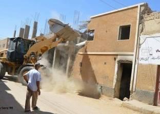 انهيار جزئي لعقار بمدينة الخارجة في الوادي الجديد