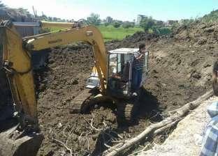 إزالة حالة تعد على أرض زراعية في الشيخ ضرغام بدمياط
