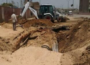انتهاء إصلاح خط المياه الرئيسي بنزلة عبداللاه في أسيوط
