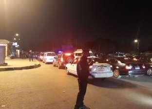 إصابة 5 في تحطم 4 سيارات ملاكي إثر انقلاب سيارة نقل على الدائري
