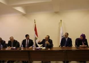 لجنة من أساتذة الجامعة لتطوير ميداني المحطة والمديرية وكورنيش بني سويف