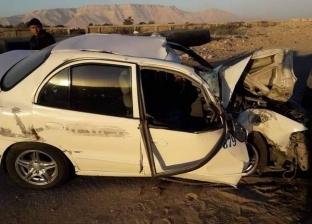 مصرع مزارع وإصابة 14 في حادثي تصادم وانقلاب سيارة بترعة في المنيا