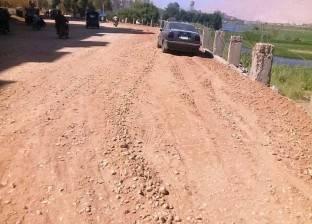 رصف 2.5 كيلو بشوارع مدينة جرجا بسوهاج