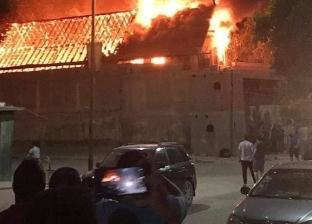 بالفيديو.. شاهد اشتعال النيران في كنيسة مارجرجس بحلوان