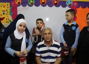 محافظ المنوفية يكرم 3 طلاب أبناء شهيد بمدرسة في قويسنا