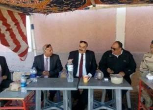 رئيس اللجنة الفرعية للانتخابات برأس سدر يتفقد لجان الدائرة الثالثة