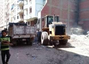 رفع القمامة والتراكمات من شوارع مدينة المراغة في سوهاج