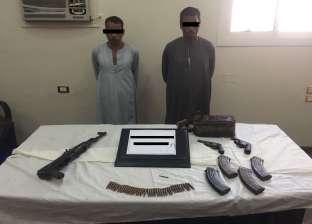 ضبط 4 أشخاص بحوزتهم أسلحة نارية غير مرخصة بأسيوط