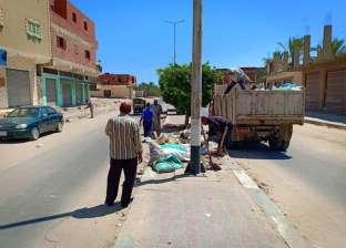 بالصور.. انطلاق حملات نظافة مخلفات الأضاحي بشمال سيناء