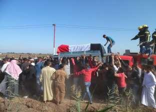 """أهالي """"سندبسط"""" بالغربية ينتظرون وصول جثمان """"عامر محمد"""" شهيد سيناء"""