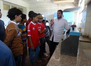 حملة لتعريف شباب جرجا في سوهاج بمراحل تنقية مياه الشرب