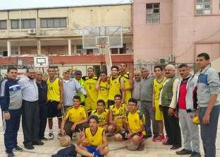 """طلاب الإعدادية بـ""""أزهرية كفر الشيخ"""" يفوزون بالمركز الأول في كرة السلة"""