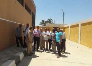 رئيس الوحدة المحلية بمغاغة يتفقد أعمال ترميم مبنى الوحدة