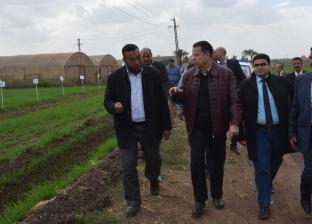 محافظ بني سويف يزور محطة البحوث الزراعية بسدس مركز ببا