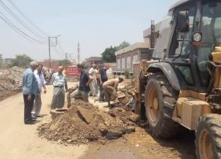 محافظ الغربية يكلف بإصلاح ماسورة مياه انفجرت بقرية المنشأه
