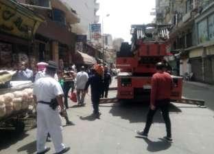 """إنقاذ 5 أسر محتجزة إثر انهيار عقار قديم بـ""""جمرك الإسكندرية"""""""
