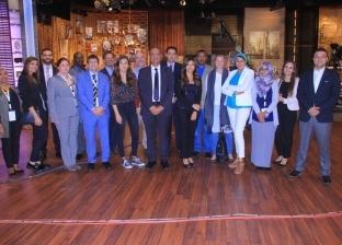"""إيمان الحصري: """"مسلم"""" استقبل وفد الإعلاميين العرب في استوديوهات """"DMC"""""""