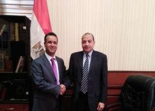 رئيس جامعة بني سويف يبحث زيادة الطلاب الوافدين مع مستشار ليبيا الثقافي