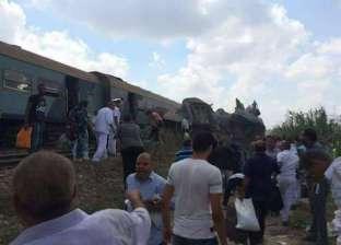 الإسعاف: الدفع بـ65 سيارة لموقع قطاري الإسكندرية.. ونقل 14 حالة وفاة