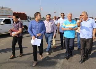 محافظ المنوفية يتفقد الأعمال النهائية للطريق الإقليمي الدائري