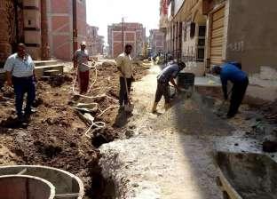 تنفيذ أعمال رصف في شوارع بلقاس بتكلفة 18 مليون جنيه