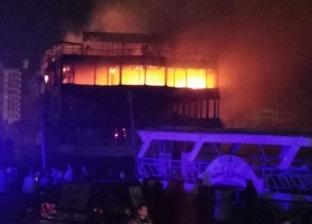حريق محدود بمركب خال من السائحين جنوب الأقصر