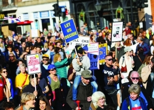 مظاهرات في لندن احتجاجا على تعامل الحكومة مع أزمة التغير المناخي