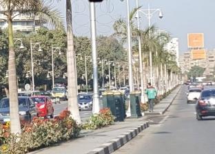 """بالصور  """"مصر الجديدة"""" يستعد لـ""""الربيع"""" بالزهور وتطوير المسطحات الخضراء"""