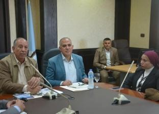 محافظ البحر الأحمر ووزير الري يستعرضان الموقف التنفيذي لسدود الحماية
