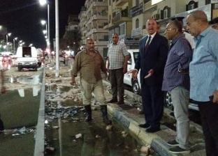 محافظ البحر الأحمر يتابع استكمال أعمال سحب مياه الصرف بمحطة 7 الفرعية