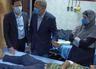 «الهجان» و«الجيزاوي» يطمئنان على الحالة الصحية لمصابي حادث قطار بنها