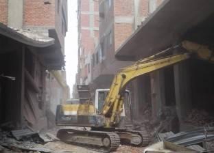 إزالة 15 حالة تعدي على أملاك الدولة بحي شرق شبرا الخيمة