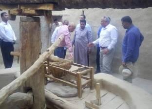 محافظ الوادى الجديد يتفقد قرية القصر الإسلامية بمركز الداخلة