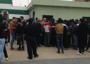 موظفو أمن النادي المصري يضربون عن العمل
