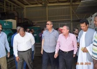 محافظ البحر الأحمر يتفقد محطة كهرباء مرسى علم