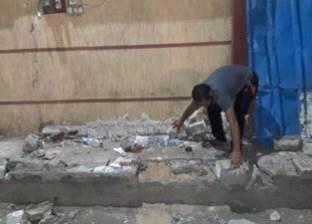 """الإسكندرية تشن حملتين لإزالة الأكشاك و""""التند"""" المخالفة"""