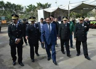 مدير أمن الإسكندرية يشرف على عملية رفع أنقاض العقار المنهار