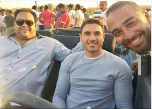 """أحمد عز ينشر صورته مع محمد ممدوح في كواليس """"الخلية"""""""