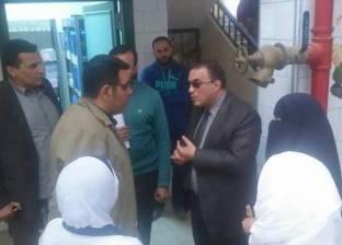 بالصور| وكيل صحة دمياط يتابع سير العمل بالوحدة الصحية في الشيخ ضرغام