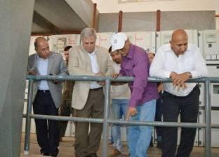 رسلان يتفقد محطة تنقية طامية ويتعهد بتوصيل المياه لمناطق الفيوم