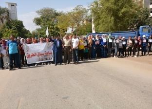"""270 طالبا وطالبة يشاركون في ماراثون """"سباق الطريق"""" بأسيوط"""