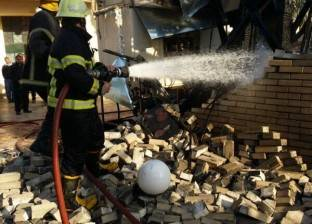 بالصور| 11 سيارة إطفاء تسيطر على حريق نادي الجزيرة