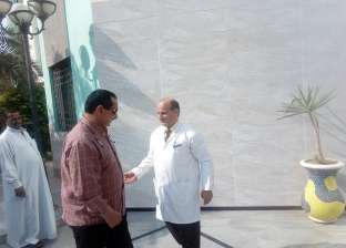 """رئيس """"المحلة"""" يباشر سير العمل بمعهد الكبد ويشدد على رفع القمامة"""