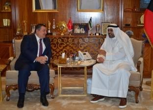 وزير الإعلام والشباب الكويتي يستقبل أسامة هيكل لبحث سبل التعاون