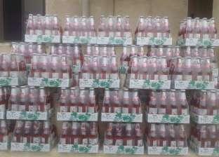 ضبط 1087 عبوة مشروبات صناعية مجهول المصدر بالفيوم