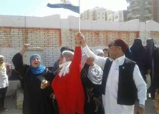 سليمان فضل نائب مطروح يرفع علم مصر أمام لجنة زاهر جلال
