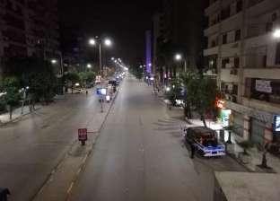 شوارع الجيزة خالية من المارة في أول أيام تطبيق حظر التجول