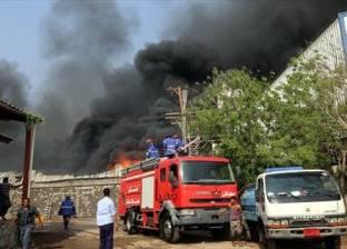 السيطرة على حريق هائل بمخزن قطع غيار سيارات بمركز منوف