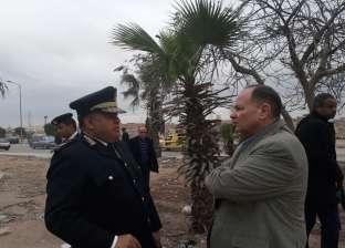 مدير أمن الجيزة يقود حملة إزالات في الهرم