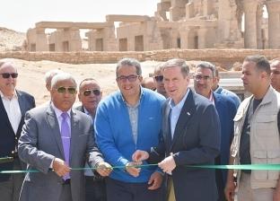 """وزير الآثار يفتتح مشروع """"خفض منسوب المياه الجوفية"""" بأسوان"""